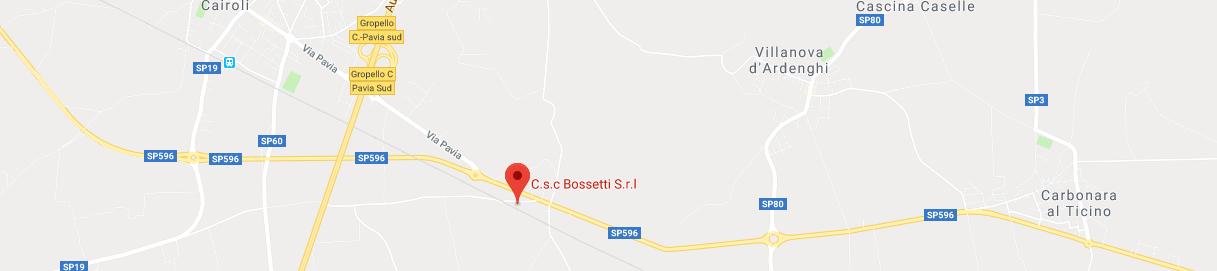 Dove siamo azienda CSC bossetti mappa