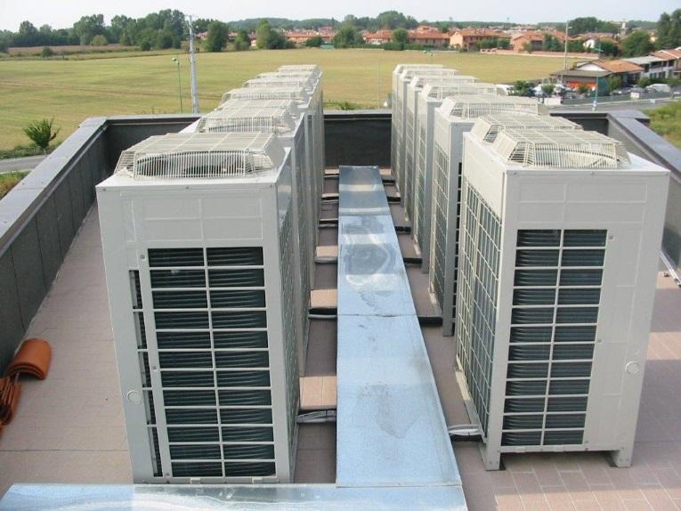 Impianto a espansione diretta per climatizzazione albergo